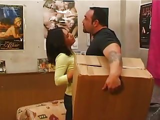 Straight muscle bear mover fucks bosses wife