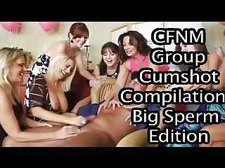 CFNM Group Cumshot Compilation: Big Sperm Edition