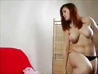 Horny BBW GF love masturbating with several dildos