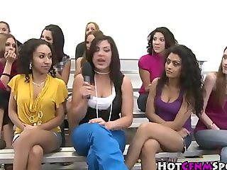Clothed babes judging