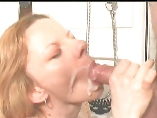 ugly sexy redhead cumshower