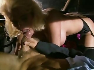 Buxom blonde goes wild in a hotel & picks a stud