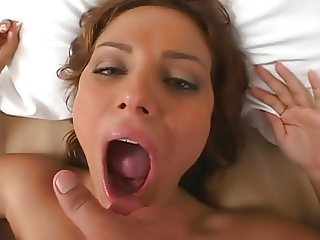 Tan Cutie Suck, Fuck & Swallow
