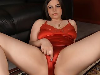 red satin panties