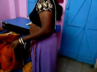 village aunty undressing
