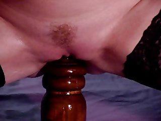 Huge dildo insertion