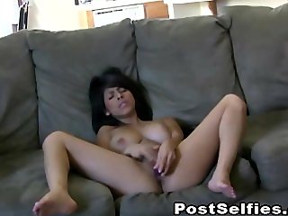 Gorgeous Big Tits Babe Caught Masturbating