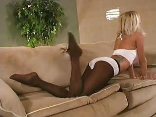 naughty angel spreads her  legs in pantyhose