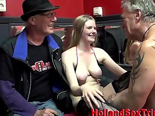 Dutch blonde prozzie gets cumshot