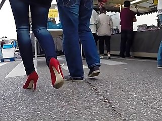 Public Red Shoes