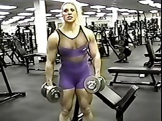 Female bodybuilder Kim Ms Olympia