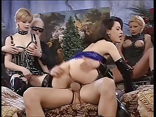 Girls in latex fisting