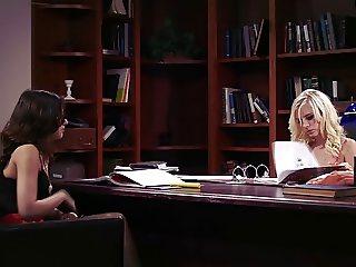 A Blond, a Brunette and a Desk (lesbian)
