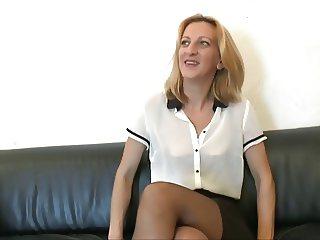 Good looking skinny milf tries anal