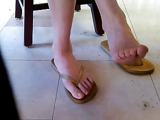 Candid Asian Library Girl Feet and Legs Part 3
