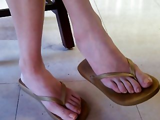 Candid Asian Library Girl Feet and Legs Part 2