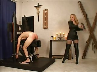 madam christine whipping slave