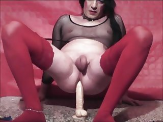 Self Teen Shemale Trans Banana Anal Blowjob Sex Show Toys