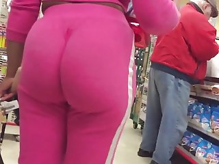 Black jungle booty in pink sweats