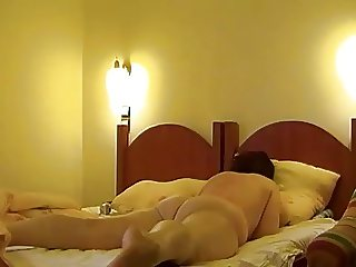 hungarian amateur, in a hotel room