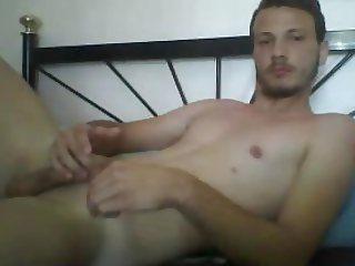 Greek Athletic Str8 Boy With Big Cock Cums On Webcam