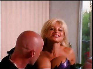 Big tits blonde in latex banged hard