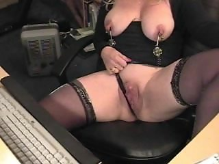 Huge Clit Masturbation Webcam 2 (w Squirt)