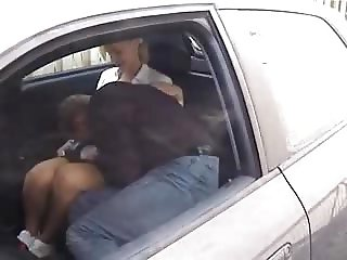 Skinny dutch blonde fucked in a car