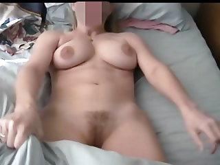 Shy Amateur Blonde Flashes Big Tits-Nipples-Pussy