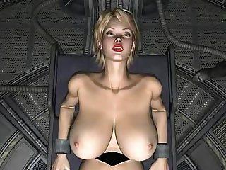 3D Spatial Science Fiction Blond Slave
