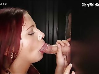 Gloryhole Secrets 2 sisters take turns in the gloryhole