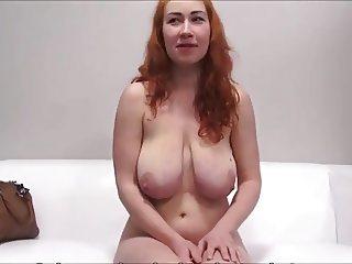 redhead busty casting