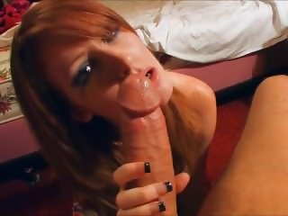 Redhead with a real profile on 1hottie.com gets a facial from me