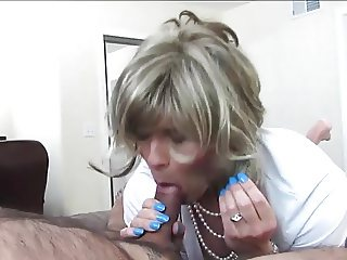 Sexy Crossdresser Sucks and Fucks