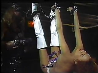 Kinky ho upside down, bound and teased