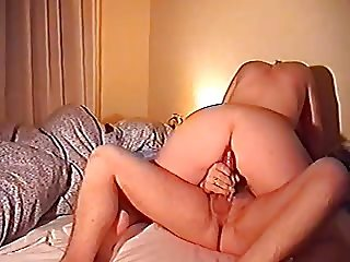 Danish Wife rides cock husbond wanks and cums