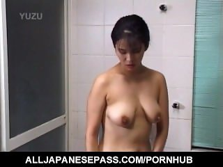 Japanese AV Model showers her hot titties
