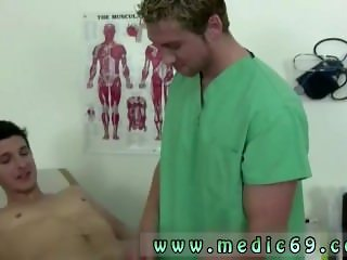 Gay male medical doctor examining an older man As I explained to him