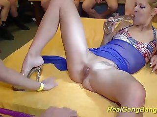 her first wild bukkake groupsex fuck orgy