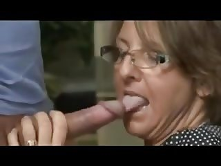 Milf Buffs Her Mans Rod With Her Mouth And Twat