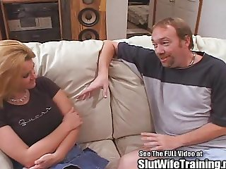 Slutwife Brooke gets her training by Dirty D