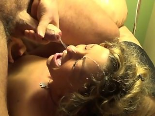 Huge load of cum on my pretty face !