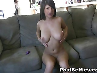 Big Tits Ebony Solo Masturbation