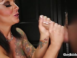 Gloryhole Secrets brunette milf loves her cumshots