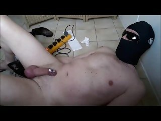 bondage machinefuck prostate massage with handsfree cumshot
