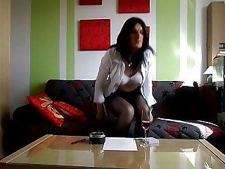 sandralein33 Smoking in secretary look
