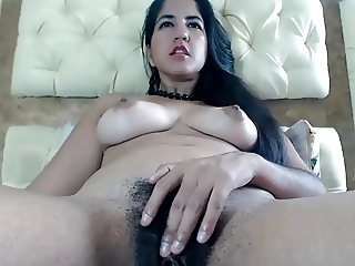 ANOTHER GORGEOUS COLUMBIAN SLAMS HER BEAUTIFUL PUSSY