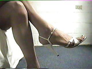 Stiletto Heels and Pantyhose Leg Teaser