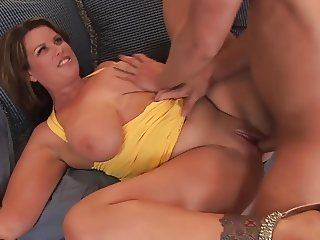 Cum in mouth for Mature milf with big tits