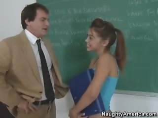 Cute brunette with small tits riding a cock in the classroom - Latina Xxx s